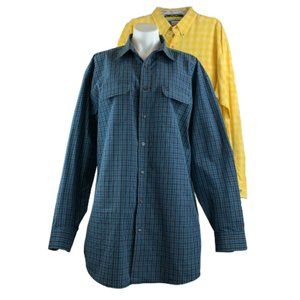 George Strait Wrangler Button Down Dress Shirt XXL